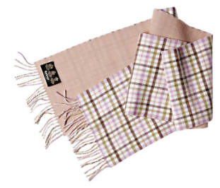 Barbour Reversible Merino Cashmere Scarf- Pink