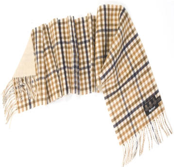 Barbour Reversible Merino Cashmere Scarf- Camel | Navy