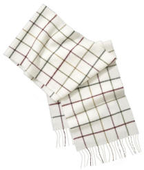 Barbour Tattersall Lambswool Scarf - Cream