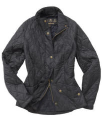 Ladies Barbour Flyweight Cavalary Jacket - Navy