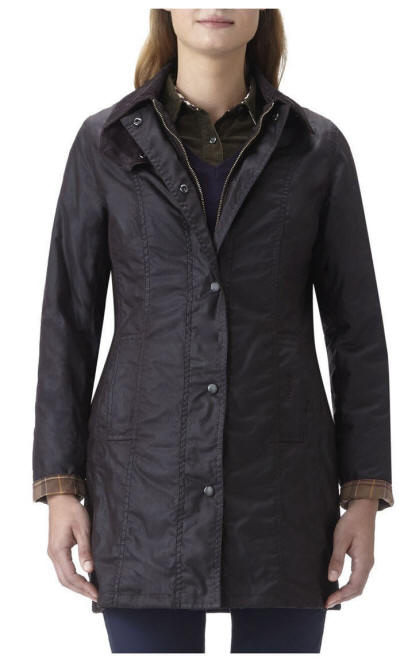 Womens Barbour Ladies Belsay Jacket- Black