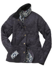 Womens Barbour Liberty Summer Liddesdale Quilted Jacket - Navy