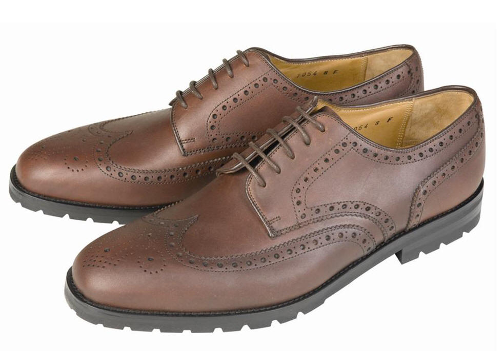 Barbour Mens Country Brogues- Dark Chestnut