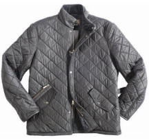 Mens Barbour Powell Quilted Jacket - Black