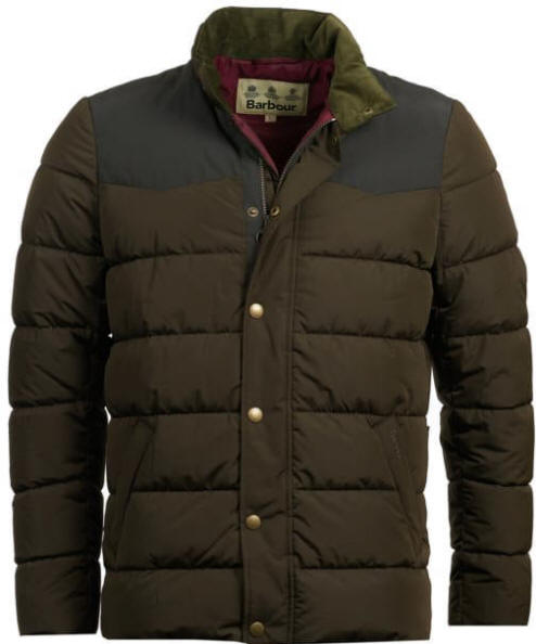 Barbour Mens Stevenson Quilted Padded Jacket Olive