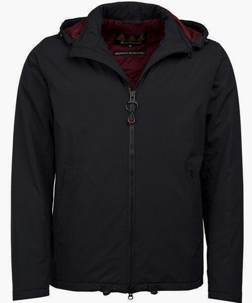 Men�s Barbour Whitburn Waterproof Jacket - Black
