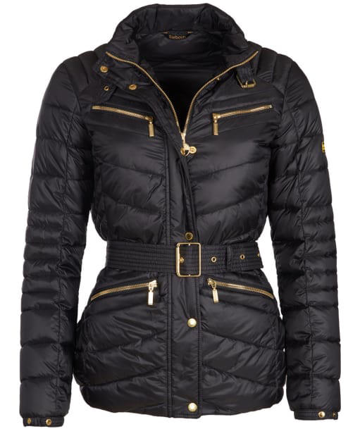 Women's Barbour International Trail Quilted Jacket - Black