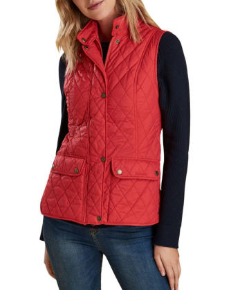 Barbour Otterburn Diamond - Quilted Gilet in Red - Lyst