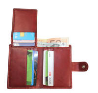 Tony Perotti Italian leather credit card notecase trifold wallet  - TP-1060G/RED - Red
