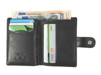 Tony Perotti Italian leather credit card notecase trifold wallet  - TP-1060G/BLK -Black