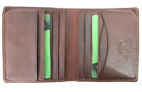 Tony Perotti Italian leather slim note case wallet TP-2068Brn - Brown