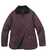 Barbour Ladies Shaped Liddesdale Quilted Jacket- Purple