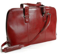 Tony Perotti Italian leather ladies laptop briefcase TP-8149Rd - Red