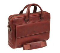 Tony Perotti Italian leather ladies document briefcase - TP-9522G/BRWN - Brown