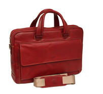 Tony Perotti Italian leather ladies document briefcase - TP-9522G/RED - Red