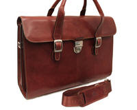 Tony Perotti Italian leather ladies laptop lockable briefcase - TP-8965G/BRWN - Brown