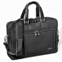 Tony Perotti Italian soft leather laptop briefcase TP-8976Blk - Black